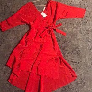 Poppy Red Silk Diane von Furstenberg Wrap Dress